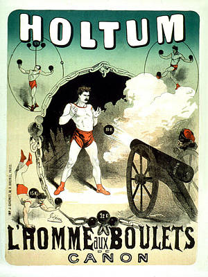Painting - Holtum Lhomme Aux Boulets Vintage French Advertising by Vintage French Advertising