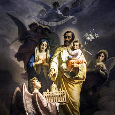 Photograph - Holy Family Blessing by Munir Alawi
