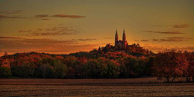 Photograph - Holy Hill Sunrise Panorama by Dale Kauzlaric
