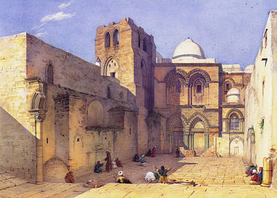Photograph - Holy Sepulcher Church  19th Century by Munir Alawi