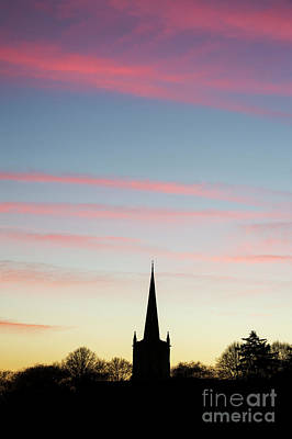 Photograph - Holy Trinity Church After Sunset Silhouette by Tim Gainey