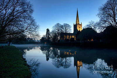 Photograph - Holy Trinity Church At Christmas  by Tim Gainey