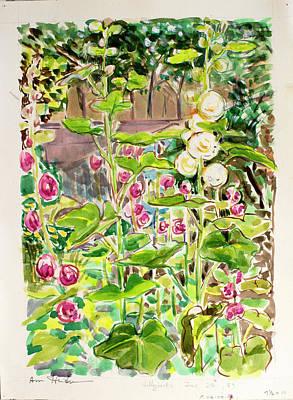 Painting - Holyhocks by Ann Heideman