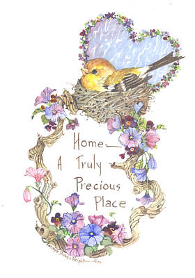 Wall Art - Painting - Home-a Truly Precious Place by Carolyn Shores Wright