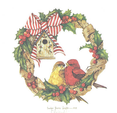 Wall Art - Painting - Home For Christmas by Carolyn Shores Wright