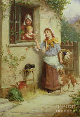 Painting - Home From Market by Alexander Rossell