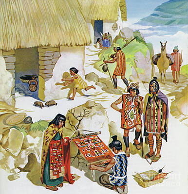 Painting - Home In Peru, Circa Ad 100 by Angus McBride
