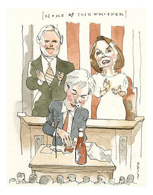 Painting - Home Of The Whopper by Barry Blitt