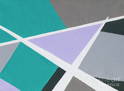 Painting - Home Triangle by Linda Lees