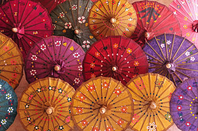 Photograph - Homemade Paper Umbrellas by Huang Xin
