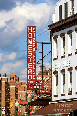 Photograph - Homestead Steakhouse New York City by John Rizzuto