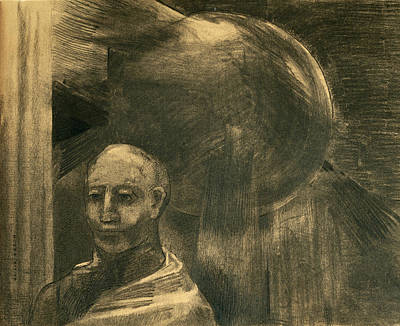 Drawing - Homme Et Sphere by Odilon Redon