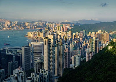 Photograph - Hong Kong Cityscape by Dave Bowman