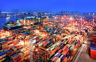 Photograph - Hong Kong Container Terminal by Xpacifica