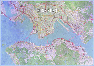 Digital Art - Hong Kong by Gary Grayson