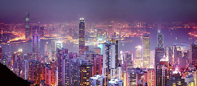 Photograph - Hong Kong Skyline From The Peak by Xpacifica