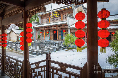 Photograph - Hongcun Courtyard by Inge Johnsson