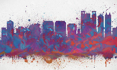 Painting - Honolulu Colorful Skyline by Dan Sproul