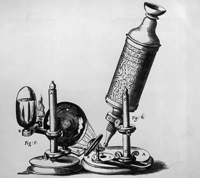 Hookes Microscope Art Print by Hulton Archive