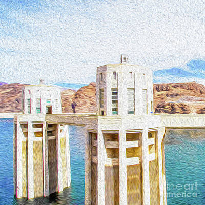 Digital Art - Hoover Dam Rendition I by Kenneth Montgomery