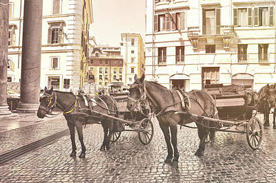Tool Paintings - Hooves On Cobblestone by JAMART Photography