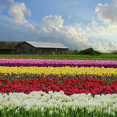Painting - Hope Is - Flower Art by Jordan Blackstone