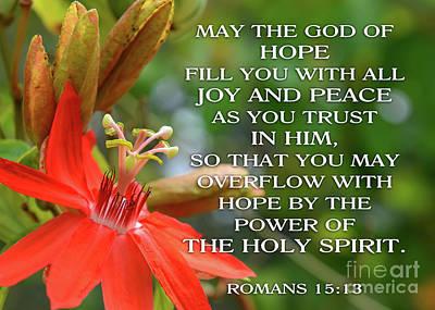 Photograph - Hope Joy Peace by Olga Hamilton
