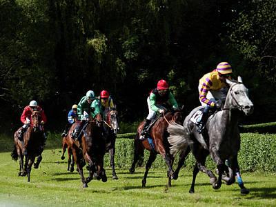 Photograph - Horce Racing 09 by Jorg Becker