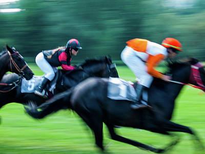 Photograph - Horce Racing 14 by Jorg Becker