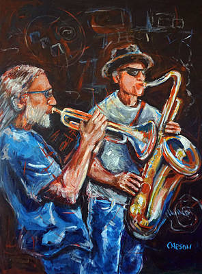 Painting - Horn Section by Susan Carson