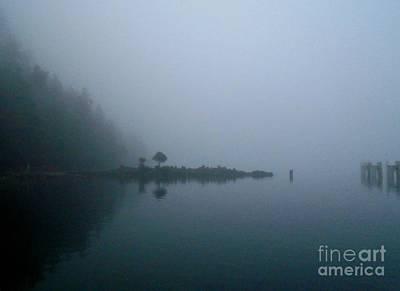 Photograph - Hornby Island Fog by John Lyes