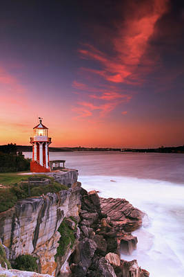 Photograph - Hornby Lighthouse At Sunset by Yury Prokopenko