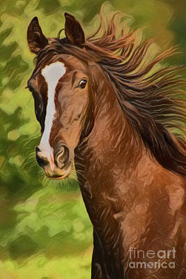 Painting - Horse A18225 by Ray Shrewsberry