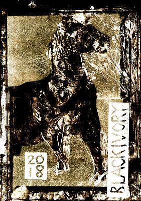 Digital Art - Horse Front 2 by Artist Dot