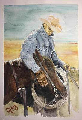 Painting - Horse hug by David Rhys