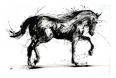 Painting - Horse In Motion by Michael Glass