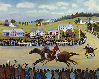 Painting - Horse Races By Konstantin Rodko, Oil On by Superstock