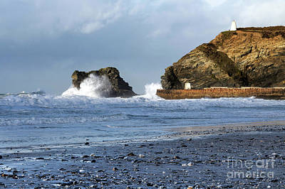Photograph - Horse Rock And Lighthouse Hill Portreath by Terri Waters