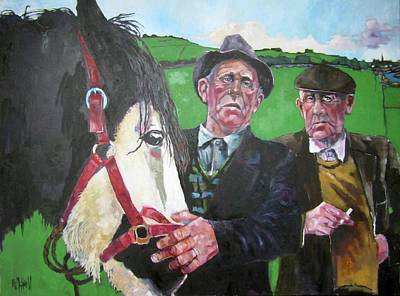 Painting - Horse Sale by Kevin McKrell