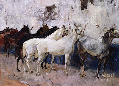 Painting - Horses At Palma, Majorca, Spain, 1908 by John Singer Sargent