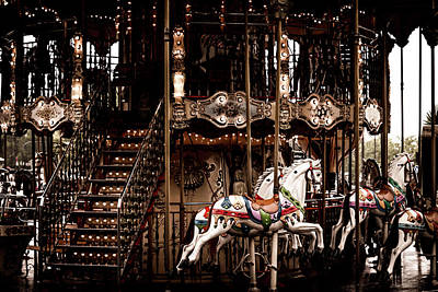 Photograph - Horses On The Merry Go Round Carousel by Georgia Fowler