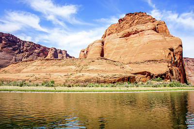 Photograph - Horseshoe Bend Of Colorado River From Raft by Dawn Richards