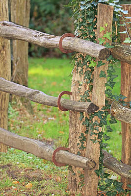 Photograph - Horseshoe Fence by Karen Silvestri