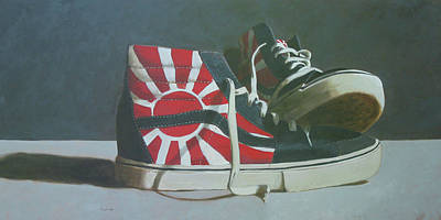 Painting - Hosoi Vans by John Holdway