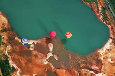 Photograph - Hot Air Balloon Festival Aerial by Jim Mckinley