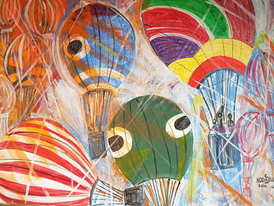 Painting - Hot Air Balloons by Hoda Said Ibrahim