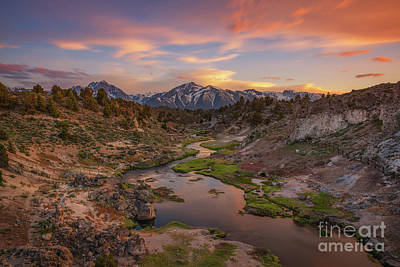Photograph - Hot Creek Overlook Sunset  by Michael Ver Sprill