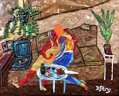 Mixed Media - Hot Date by Deborah Stanley
