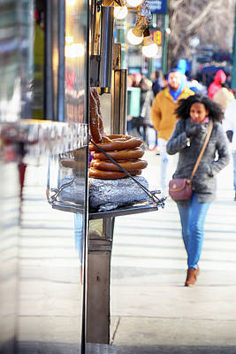 Photograph - Hot Pretzels On A Cold Day by Cate Franklyn