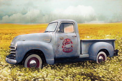Photograph - Hot Rod Chevrolet Pickup Truck In The Fall by Debra and Dave Vanderlaan